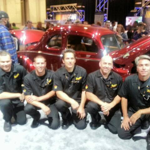 OCDCarCare at SEMA 2013 - Meguiar's/Ford team picture. Left to Right: Nick Winn, Ryan Sunok, Christopher Brown (OCDCarCare), Kevin Brown, and Derek Bemiss. - www.ocdcarcare.com