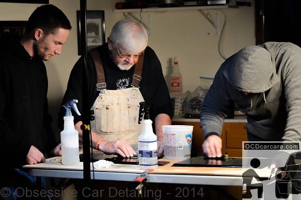 OCDCarCare takes instruction from Jason Killmer - The Phantom Polisher; world class wet sanding instructor.
