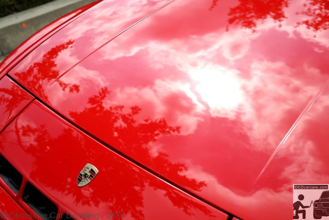 Color car los angeles - 1983 Porsche 944 Pasadena Ca After Hood Reflection Clay Bar