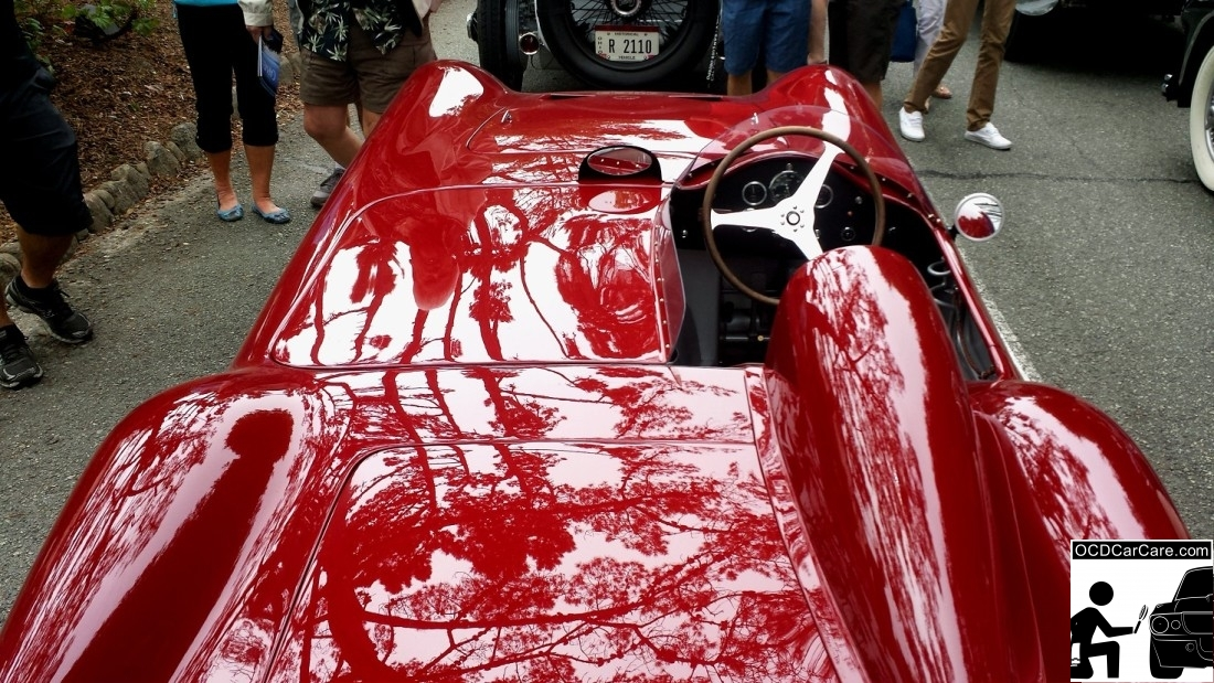 1956 Maserati 150S after the 2014 Tour d' Elegance prepared by OCDCarCare Los Angeles.