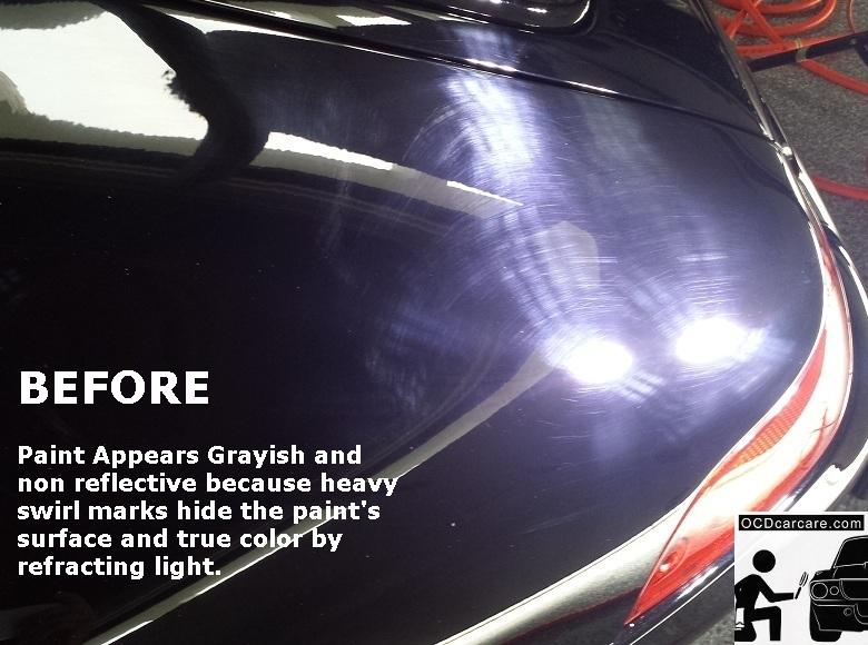 OCDCarCare.com - Detailing Pasadena Ca - 1995 Porsche Carrera - Driver Fender BEFORE Correction & CQuartz FINEST