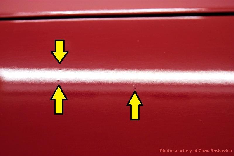 Factory Paint Defects Car