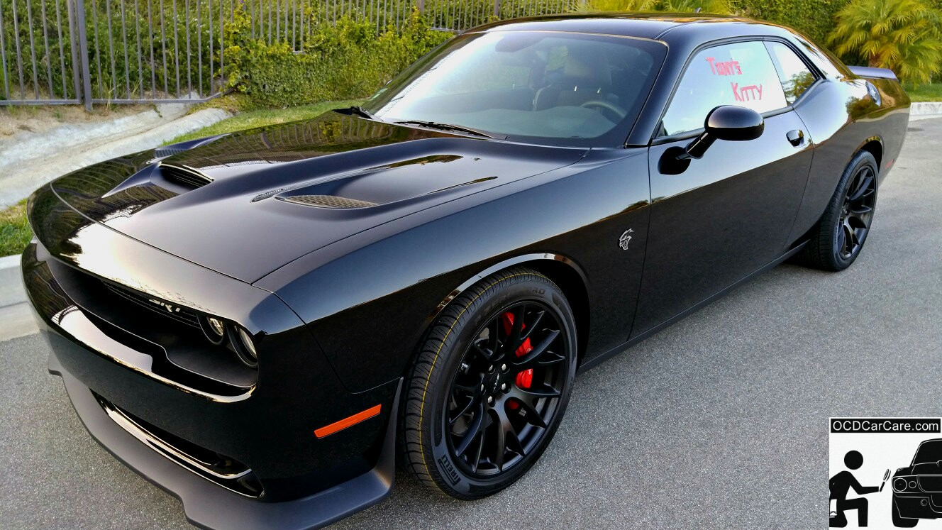 Challenger Hellcat CQuartz FInest Glass Paint Coating Detailing in Los Angeles & Pasadena - Modesta, Opti Coat & Ceramic Pro