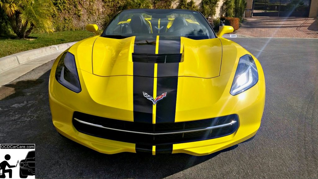 This 2016 Corvette C7 Stingray Z51 glimmers like a sunbathed beauty after OCDCarCare's Finest Nano coating Treatment.