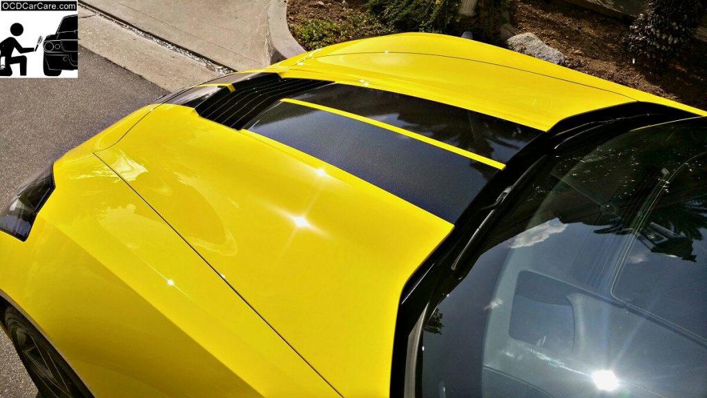 Sun Bursts on the Corvette C7 Stingray Z51 show the true value of Paint Correction & Glass Coating..