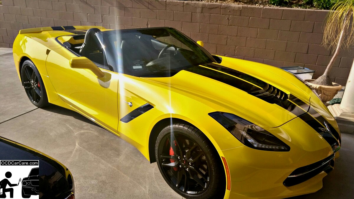 This 2016 Corvette C7 Stingray Z51 Shows off her sexy body lines after OCDCarCare's Paint Correction & Ceramic Paint Coating.