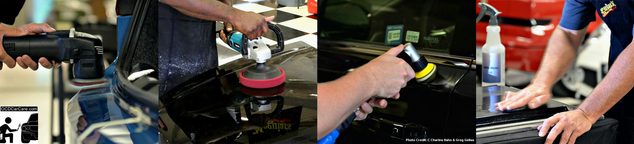 The many forms of paint correction taught by Christopher Brown of OCDCarCare during auto detailing training sessions.