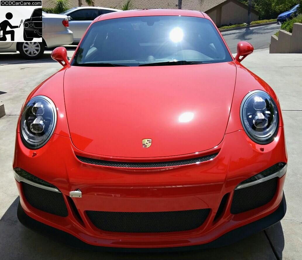Porsche GT3 - CQuartz Finest Detailing in Los Angeles - Sun Shots - Ceramic Protective Coating