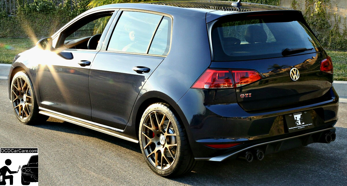 OCDCarCare.com - VW Golf GTI - CQuartz Finest Paint Coating Sun Shots - Los Angeles Detailing
