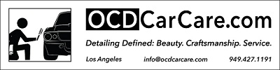 OCDCarCare Los Angeles offers full service detailing, specializing in paint correction & Automotive nano coatings.