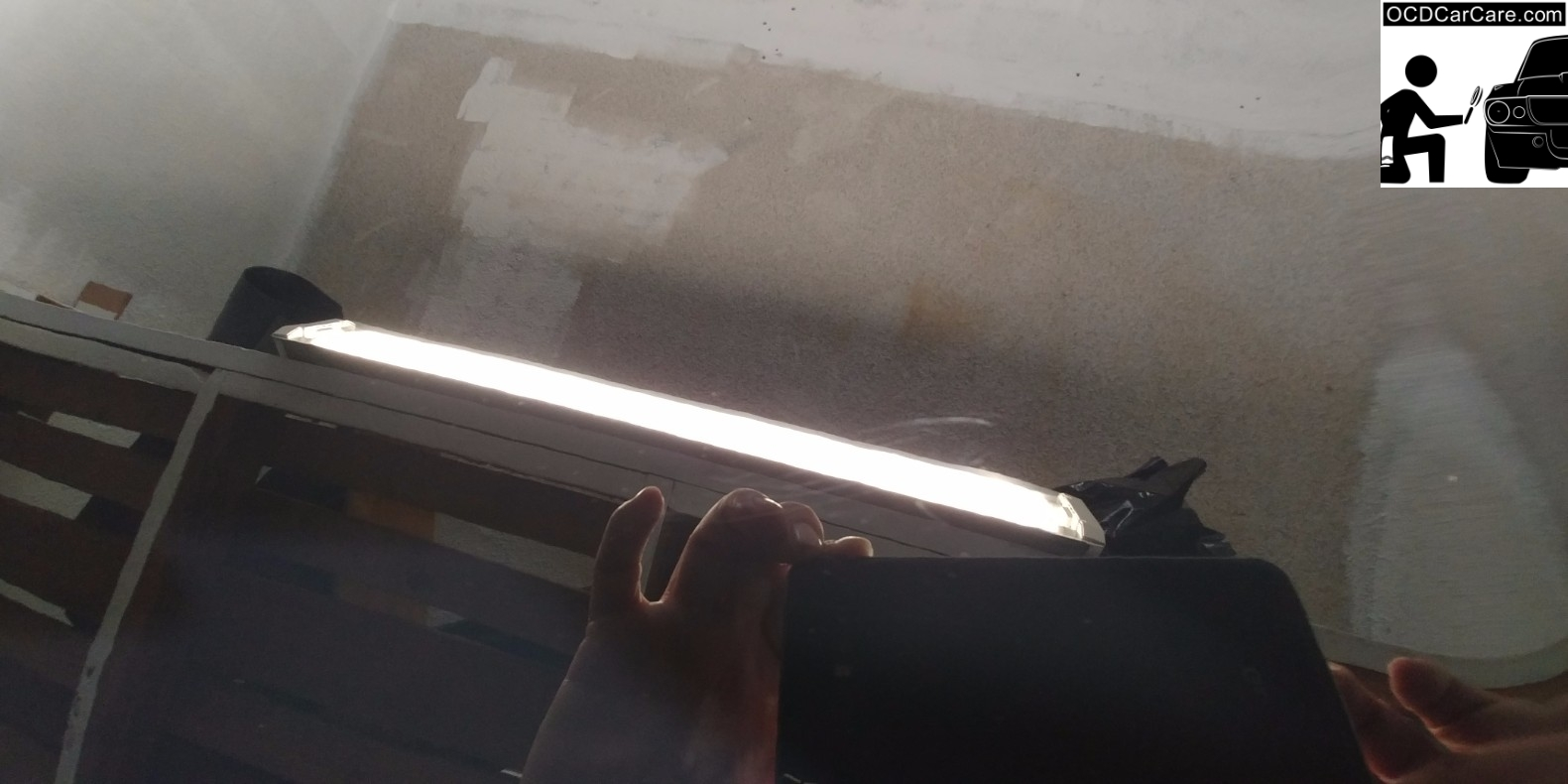 Time lapse 2 of FeynLab Self Heal Lite Nano Coating Fixing small scratches in Clear coat after paint correction detail by OCDCarCare Los Angeles