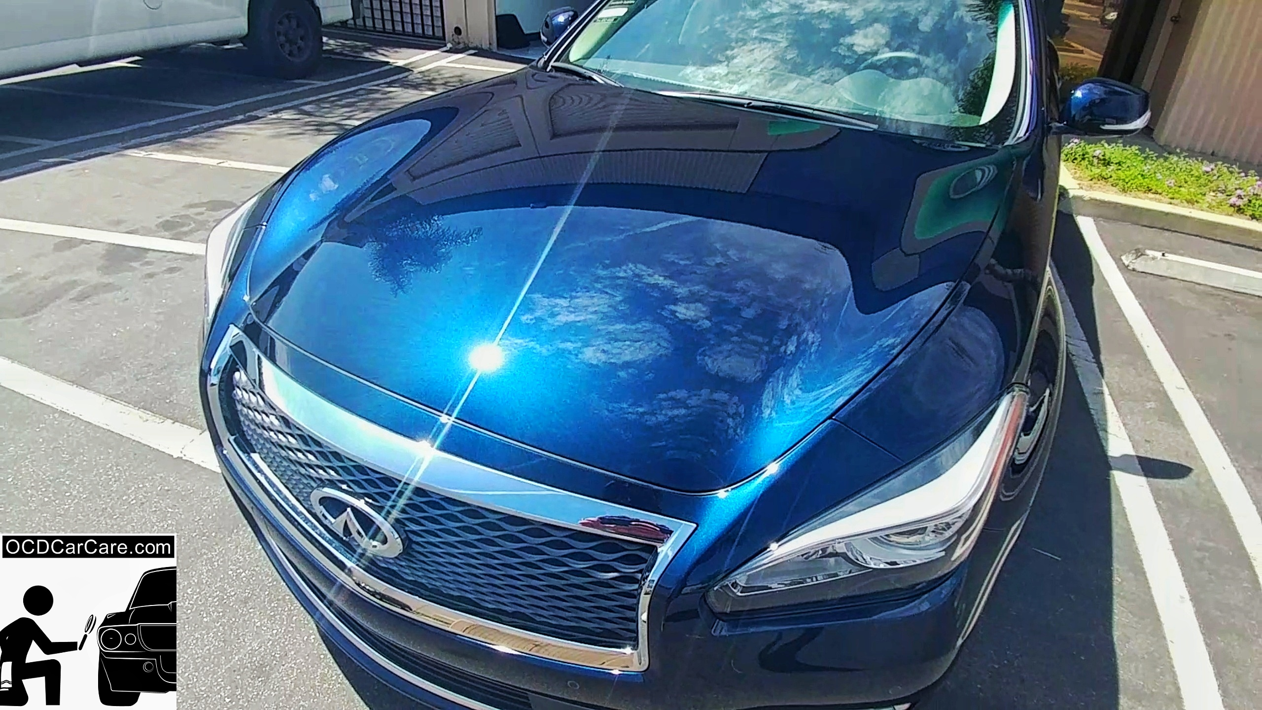 This Infinity Q70 Reflects everything in sight with insane gloss after OCDCarCare Long Beach Paint Correction & FeynLab Ceramic Nano Pro Coating Service