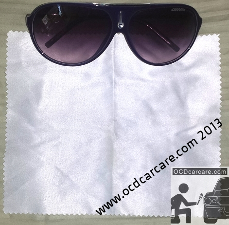 MIcrofiber Towel - no pile - detailing uses: final glass cleaning of interior to remove human oils. - www.ocdcarcare.com
