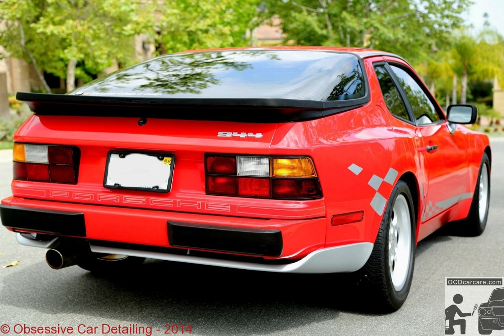 1983 Porsche 944 - AFTER - rear end - clay bar, iron x, two step paint correction, water spot removal, protective paint coating - www.ocdcarcare.com