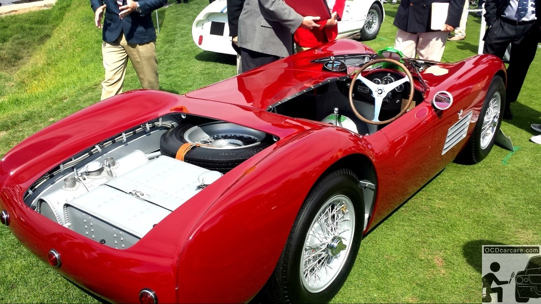 1956 Maserati 150S at the 2014 Pebble Beach Concours d' Elegance. Preparation by OCDCarCare Los Angeles.