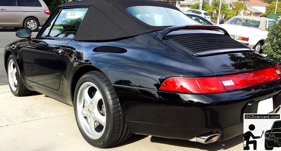 OCDCarCare - Detailing Pasadena Ca - 1995 Porsche Carrera - Rear 3-4 - CQuartz FINEST