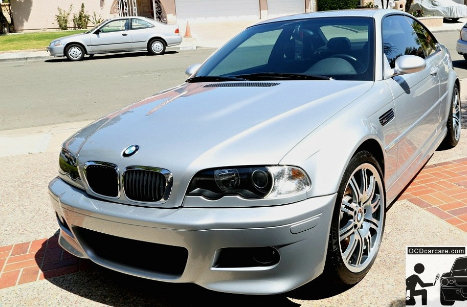 BMW E46 - Full Paint Correction Detail & Cquartz FINEST Ceramic Protective Paint Coating - Front End Reflections