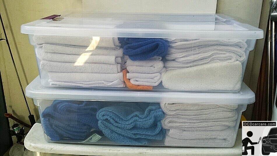 Washing MIcrofiber Towels for Detailing - Fold and Store towels in air tight containers for best storage.