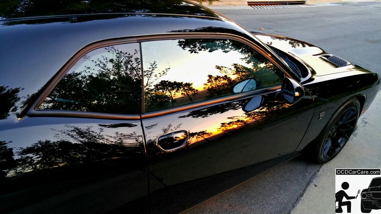 Challenger Hellcat CQuartz FInest Detailing in Los Angeles & Bel Air - Glass Paint Coating - Modesta, Opti Coat & Ceramic Pro