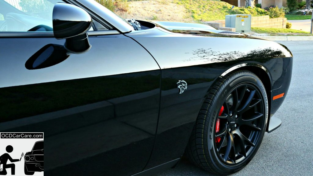Challenger Hellcat CQuartz FInest Detailed in Los Angeles & Pasadena - Glass Paint Coating - Modesta, Opti Coat Pro