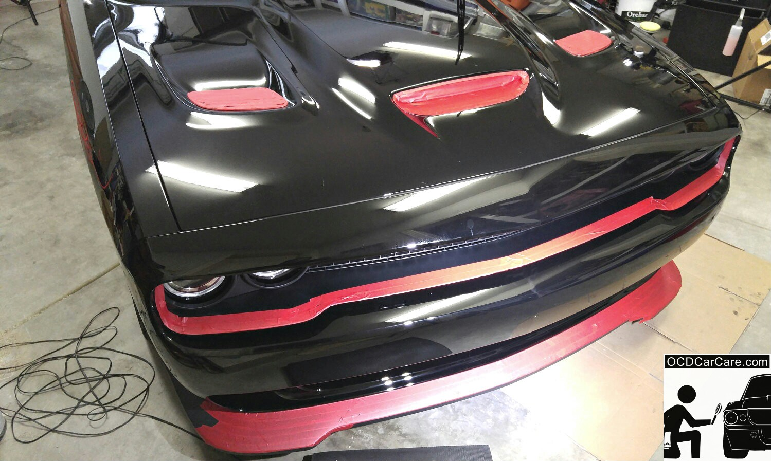 Challenger Hellcat CQuartz Finest Detailing in Los Angeles & Pasadena - Glass Paint Coating - CarPro, Meguiars, Rupes