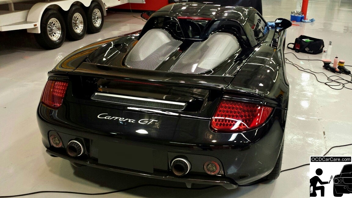Porsche Carrera GT - detailing in Los Angeles - Paint Coatings CQuartz Finest, Opti Coat Pro, Modesta, Ceramic Pro