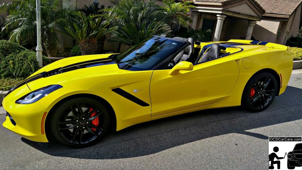 This Corvette C7 Stingray Z51 basks in the sun after a full paint correction and protective paint coating.