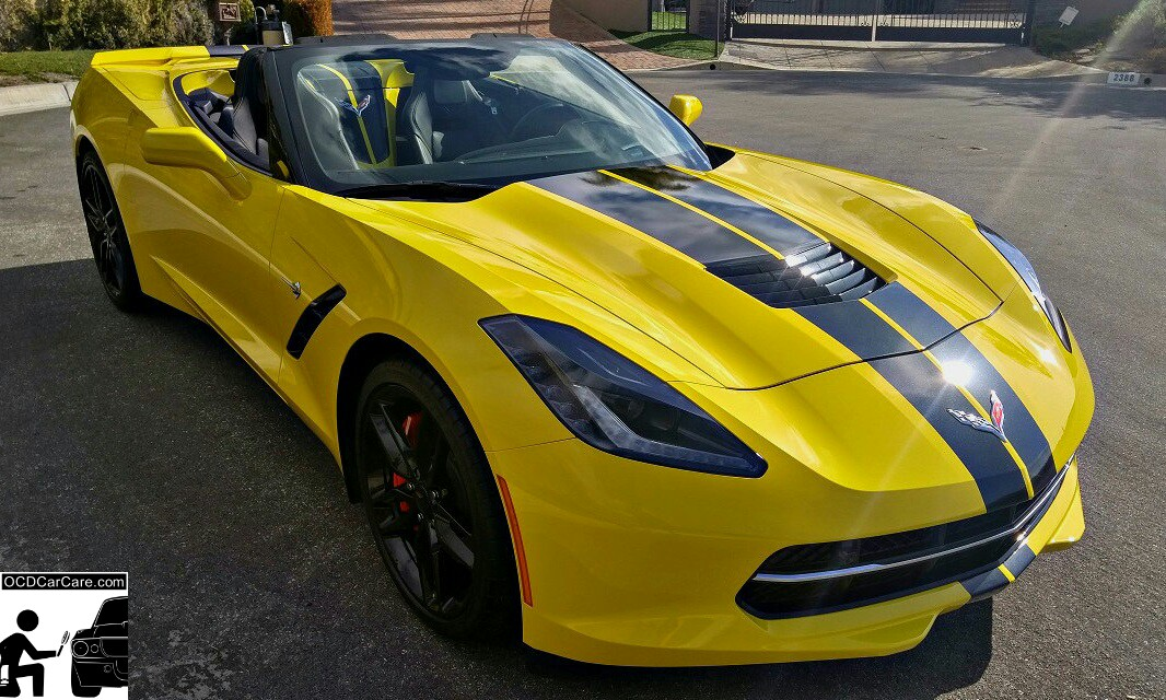 Corvette C7 Stingray Z51 absolutely radiates in the sun after OCDCarCare's Paint Correction & Ceramic Paint Coating.