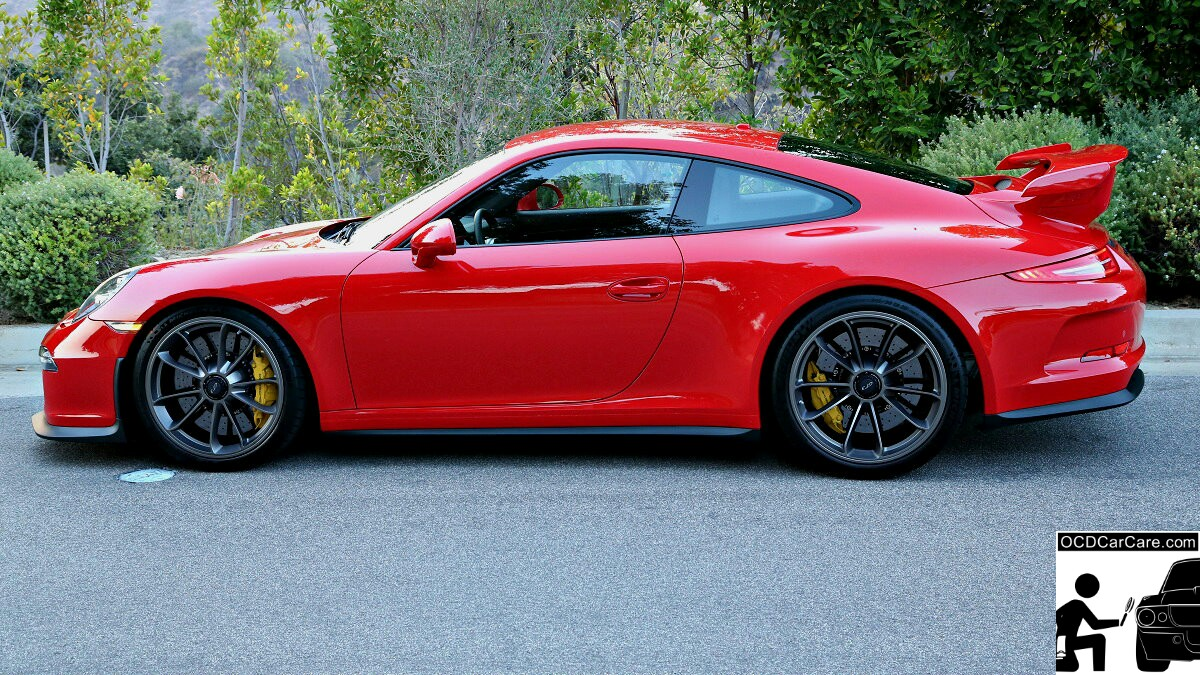 This Porsche GT3 underwent full paint correction & Caramic Nano Coating to reveal her beauty by OCDCarCare Los Angeles.
