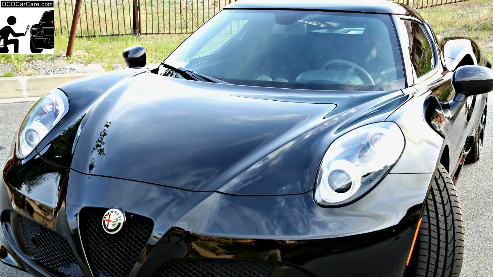 This Alfa Romeo 4C is the epitome of gloss & reflectivity with a nano glass coating.