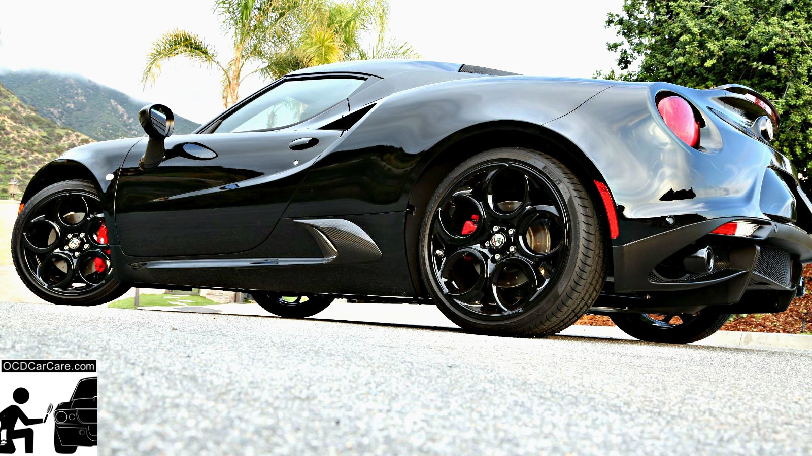 Gloss & Stance are a perfect marriage on this Alfa Romeo 4C wearing a ceramic nano coating.