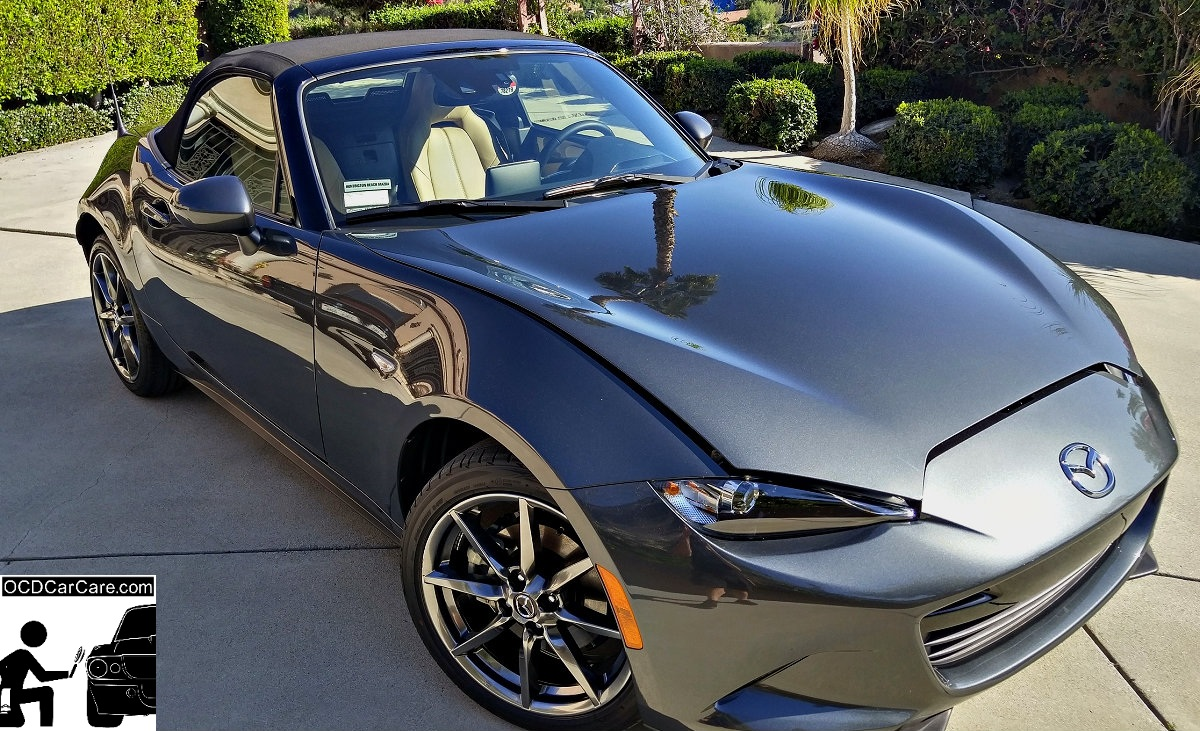 The sun tells no lies on the finish on this Mazda Mx-5 after paint correction & Cquartz Finest.