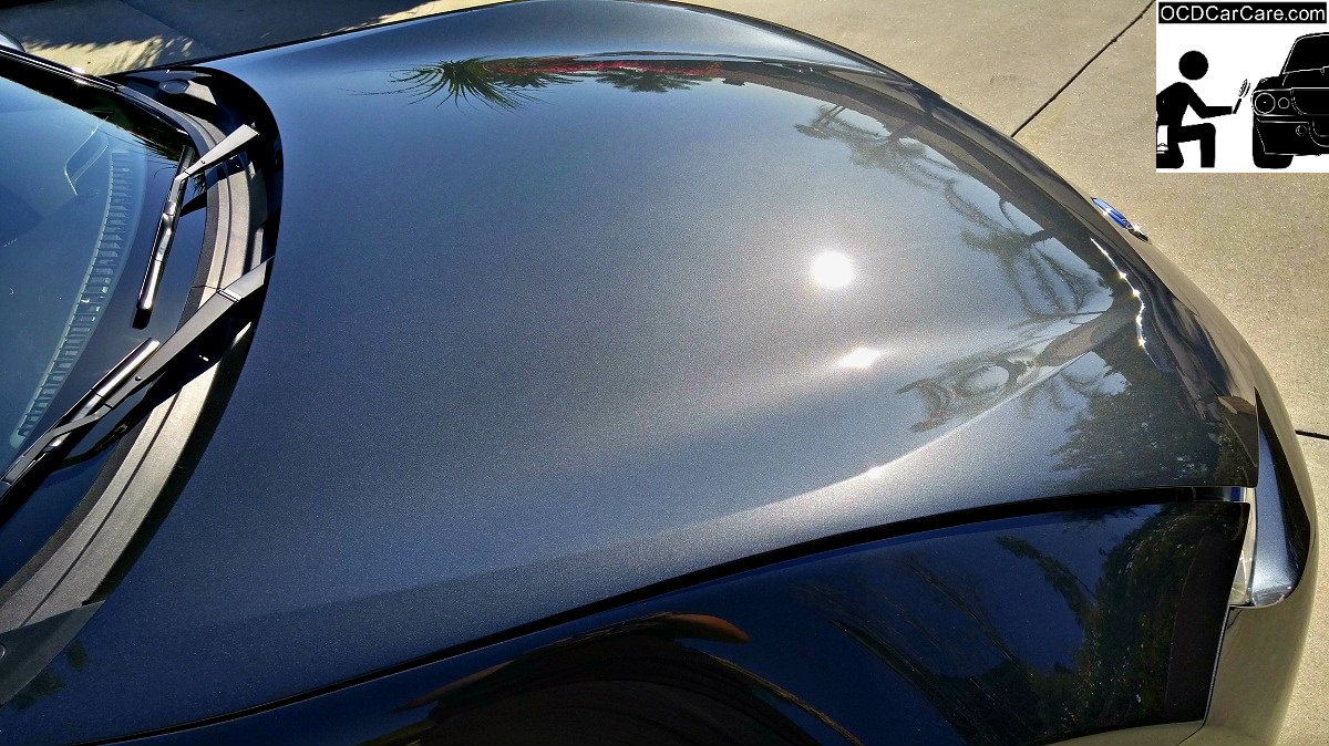 Sun shots tell no lies as seen in this Mazda Mx-5 after OCDCarCare paint polishing.