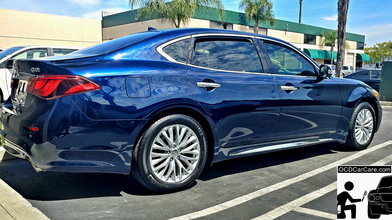 This Infinity Q70 radiates after Ceramic Nano Coating Installation by OCDCarCare Los Angeles