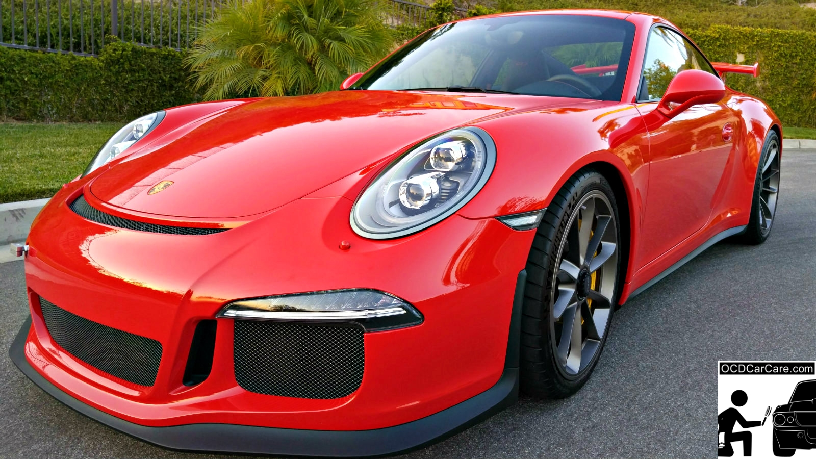 Porsche 911 GT3 received a full paint correction & ceramic nano coating by OCDCarCare, Los Angeles' premier auto detailer.